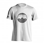 Escape to the peaks t-shirt front